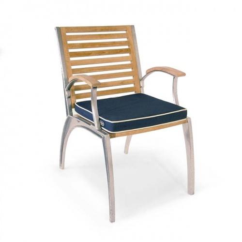 Teak Aluminum Armchair - Picture B