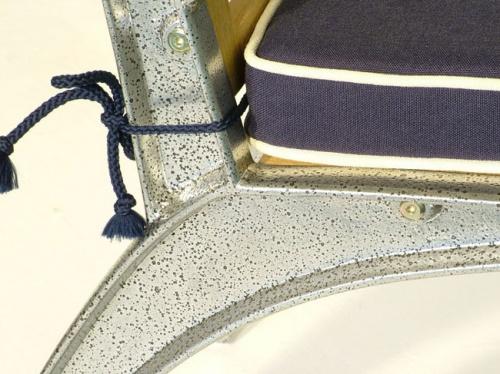 Teak Aluminum Armchair - Picture E