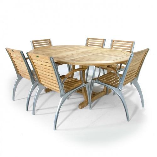 Teak Aluminum Armchair - Picture G