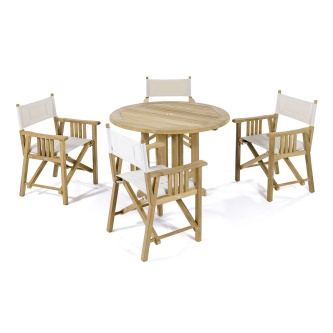 5 pc Director Chair Teak Set
