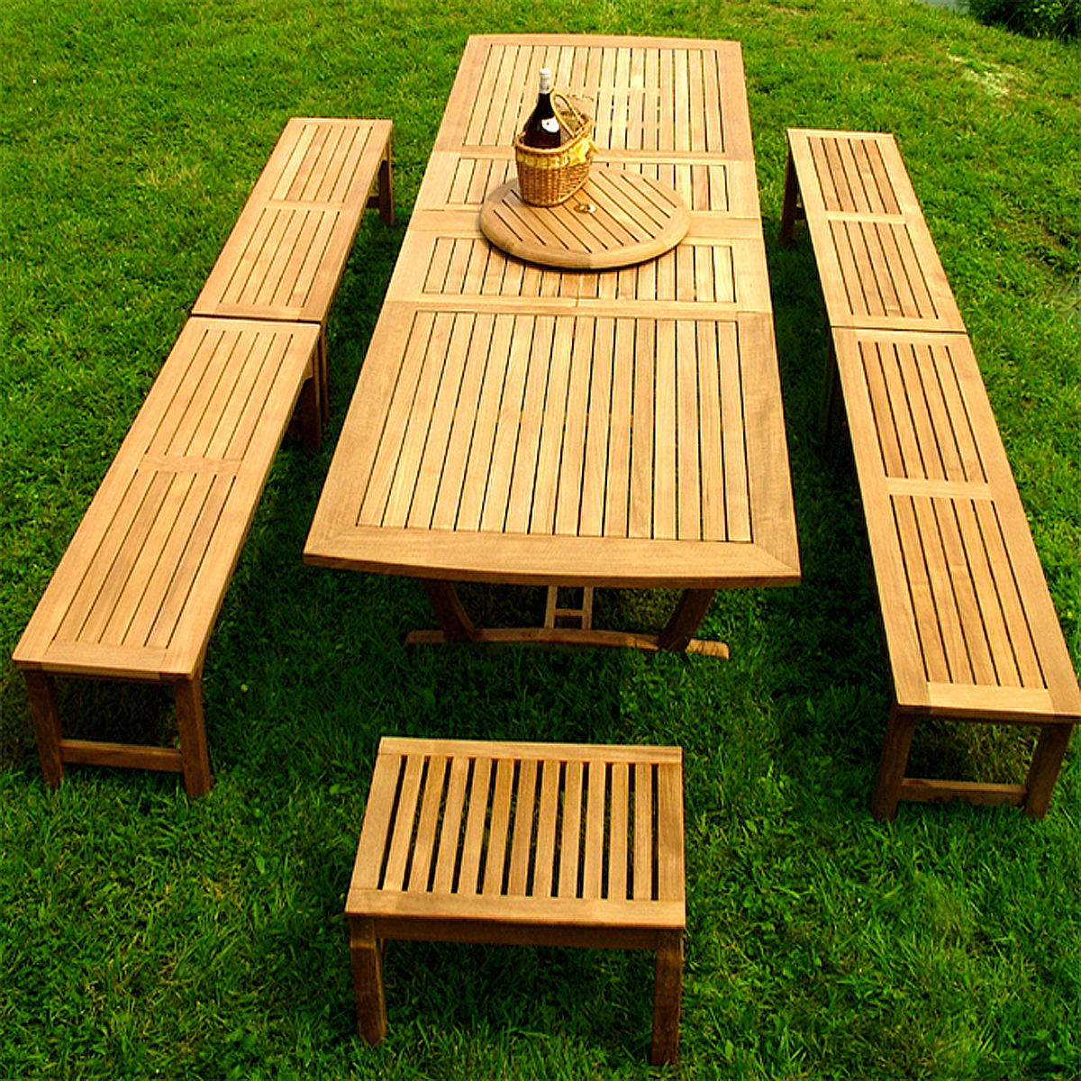 Teak Extension Table Bench Picnic Set Westminster Teak Outdoor Furniture