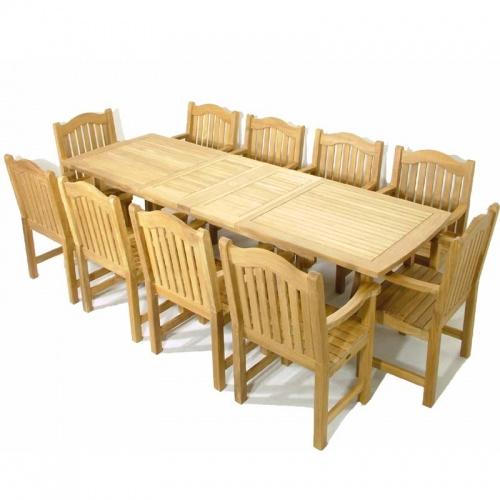 Teak Rectangular Table - Teak Armchair Set - Picture B