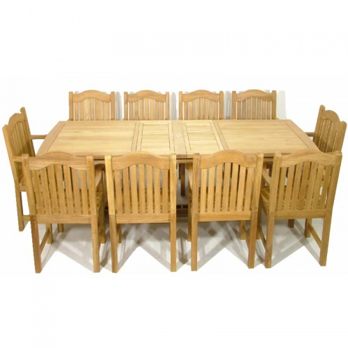 Teak Rectangular Table - Teak Armchair Set - Picture C