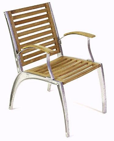 Teak 6 ft Round Table - Teak Folding Chair Set - Picture D
