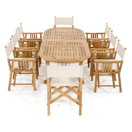 9 pc Montserrat Teak Dining Set - Picture C