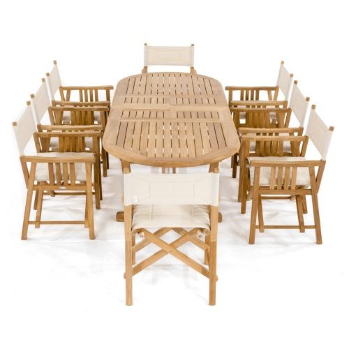 9 pc Montserrat Teak Dining Set - Picture C
