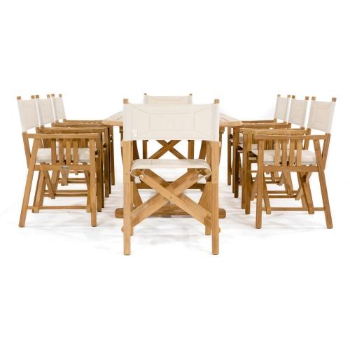 teak oval table expanding