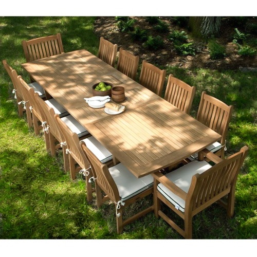 teak wood patio dining sets
