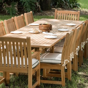 11pc To 15pc Large Outdoor Dining Table And Chairs Westminster Teak Furniture