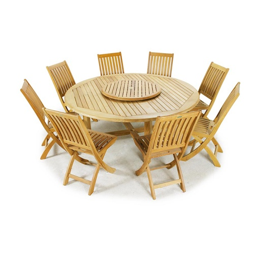 round teak table and chairs