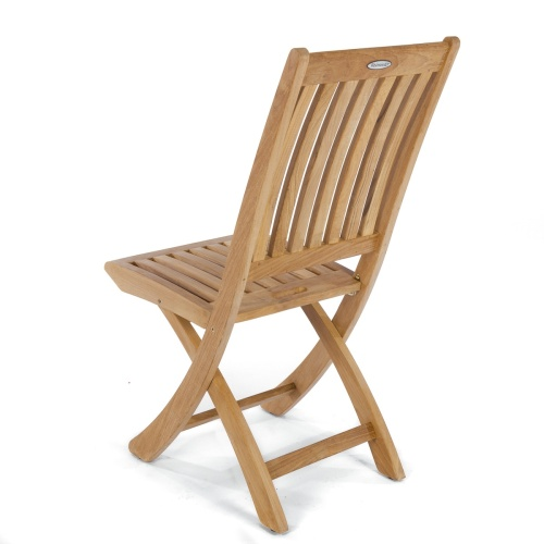 Teak Round Table And Folding Chair Set Westminster