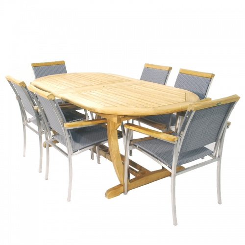 Montserrat SS Kelly Teak Dining Set - Picture A