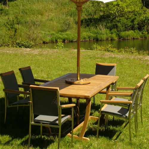 Cayman SS Kelly Stacking Armchair Set for 6 - Picture A