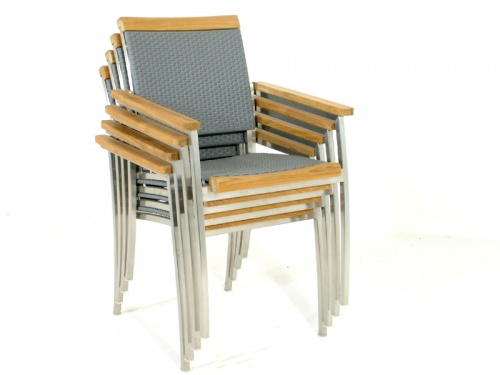 Cayman SS Kelly Stacking Armchair Set for 6 - Picture D