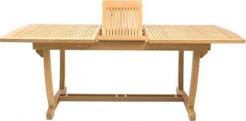 Cayman Extension Table Teak Patio Set - Picture C