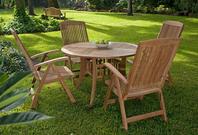 Grand hyatt teak barbuda set 4 westminster teak outdoor for Outdoor furniture quad cities