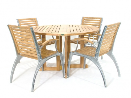 Barbuda Teak Lava chair set for 4 - Picture A