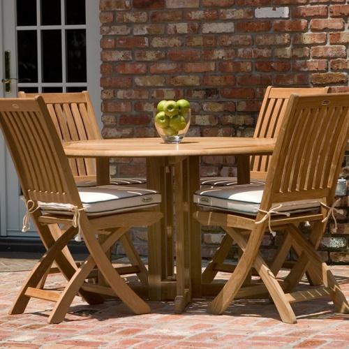 teak folding dining table outdoor