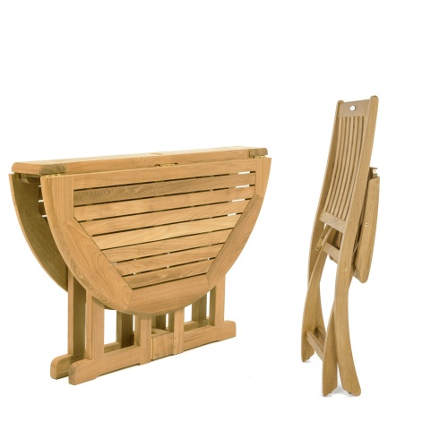 5 pc Barbuda Teak Dining Set - Picture K