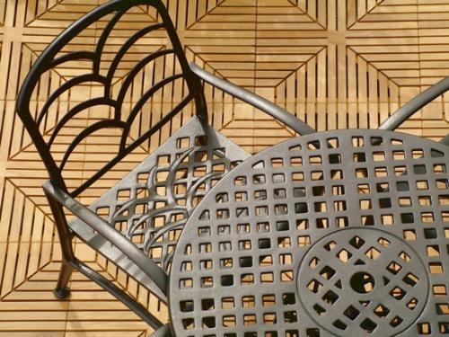 Diamond Grass Aluminum Dining Set - Picture C