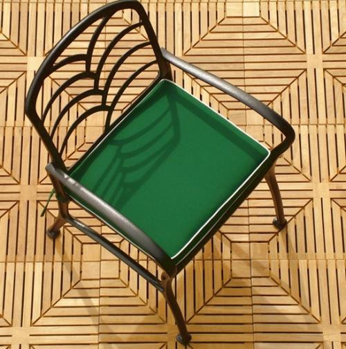 Diamond Grass Aluminum Dining Set - Picture E