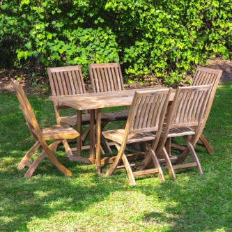 7pc Nevis Barbuda Teak Dining Set
