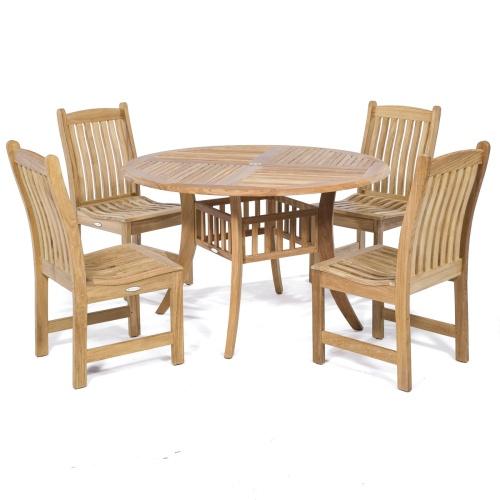 4 ft teak dining tables