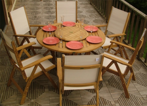 Buckingham Reclining Sunbrella Dining Set - Picture C