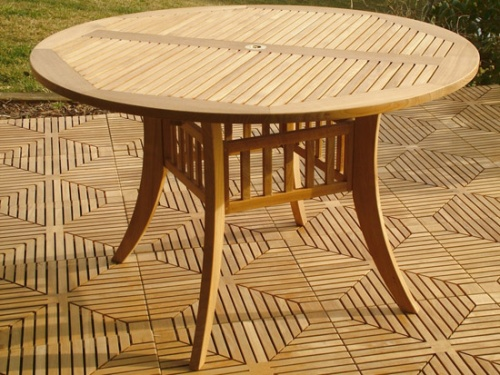 Grand Hyatt 4 foot Round Teak Patio Set - Picture B