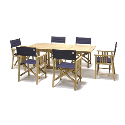 Cayman Director Chair Dining Set for 8 - Picture A