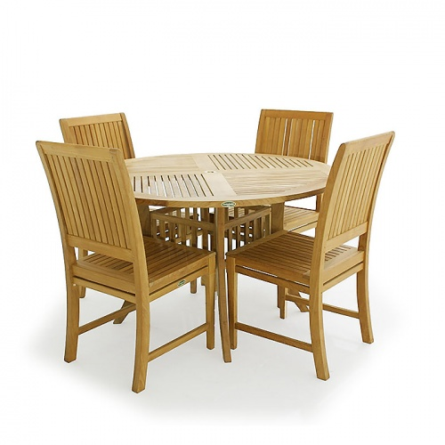 Hyatt  Silla Teak Dining Set - Picture A