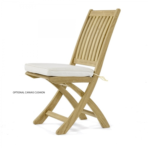 5 pc Hyatt-Barbuda Teak Patio Dining Set - Picture F
