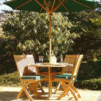 5 pc Hyatt-Barbuda Teak Patio Dining Set