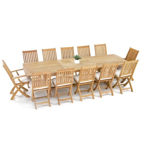 13 pc Grand Barbuda Teak Dining Set - Picture K