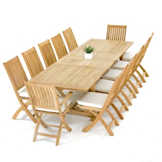 13pc Grand Barbuda Teak Dining Set
