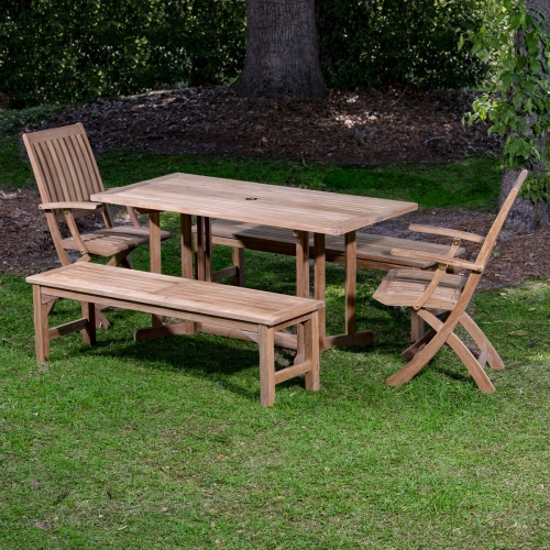 Barbuda Picnic Table Teak Set - Picture M