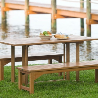 Barbuda Picnic Table Teak Dining Set