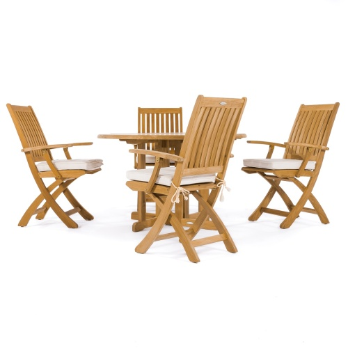 folding teak outdoor dining chairs