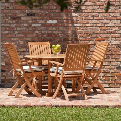 5 pc Barbuda Folding Dining Set - Picture N
