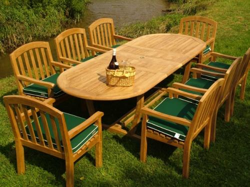 luxury teak dining sets