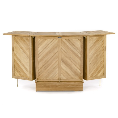 outdoor wood bar carts