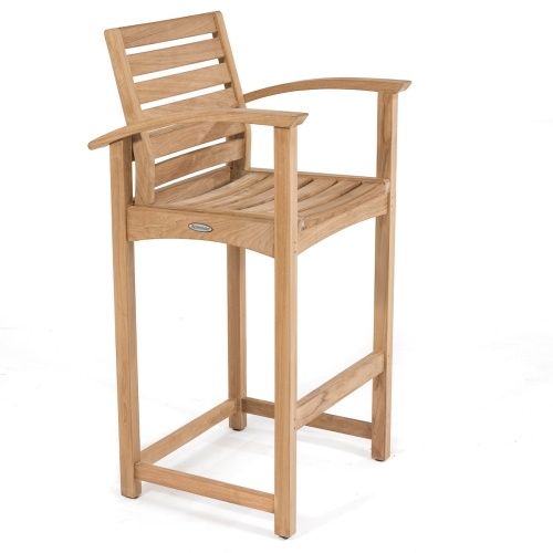 teak wood eco friendly bar stools
