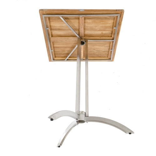 stainless steel and teak bar stools