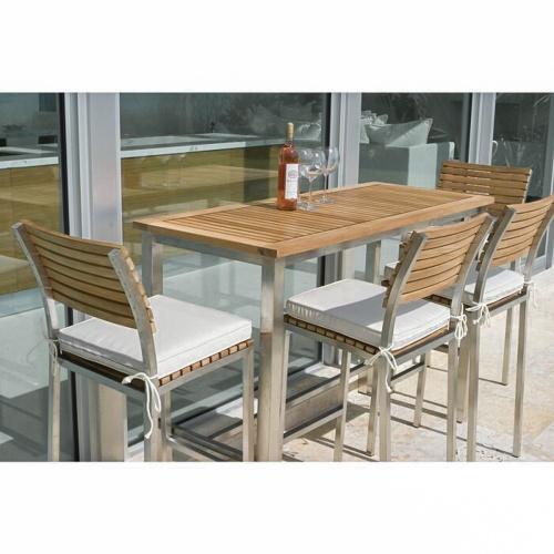 console teak table