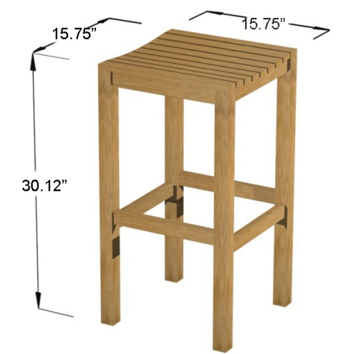 teak patio bar stools