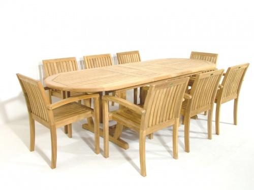 Teak Montserrat Dining Set - Picture A