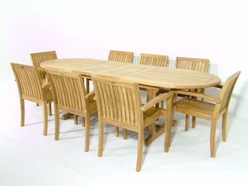 Teak Montserrat Dining Set - Picture B
