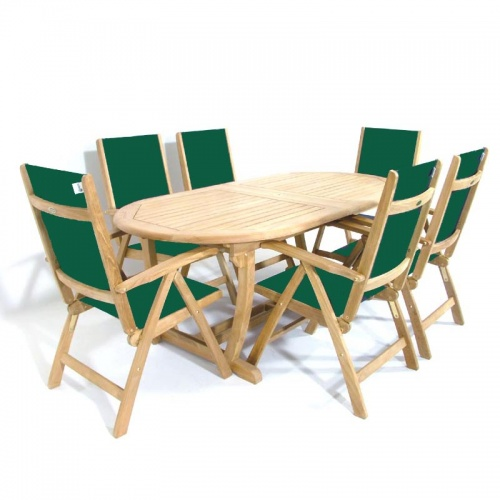 Teak Montserrat Reclining Dining Set - Picture A