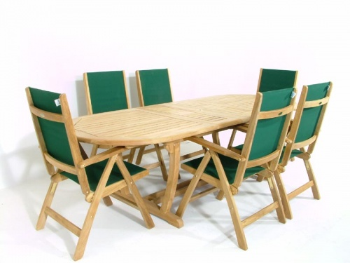 Teak Montserrat Reclining Dining Set - Picture B