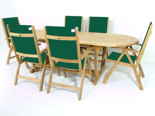Teak Montserrat Reclining Dining Set - Picture C